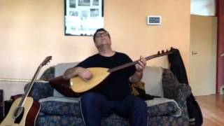 Aziz Keskin playing baglama Saz Turkish folkloric music / instrumental