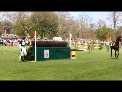 Jamie Atkinson and Celtic Fortune FALL - Badminton horse trials 2013