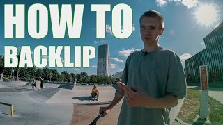How to backlip