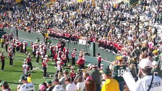 University Of Wisconsin Marching Band At Lambeau Field