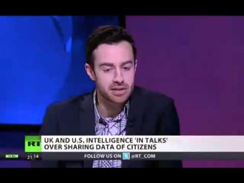 Dr Jack Holland - RT UK interview - US, UK spying