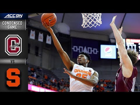 Colgate vs. Syracuse Condensed Game | 2018-19 ACC Basketball