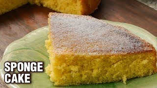 Sponge Cake Recipe -  How To Make Sponge Cake In A Pan - Basic Baking Recipe - Tarika