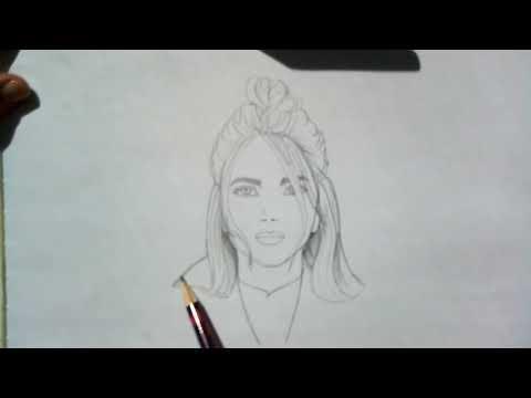 Рисую Billie Eilish ^_________^  первое видео🤭