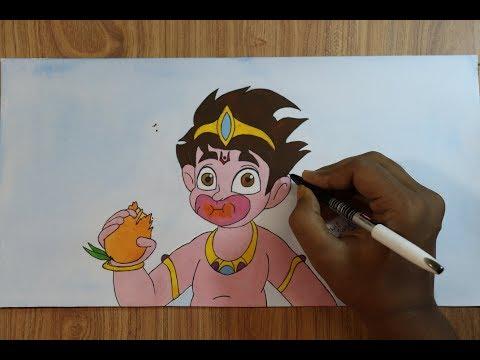 selfie-with-bajrangi-drawing