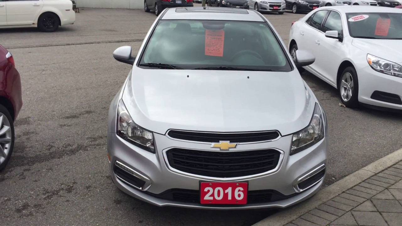 2016 Chevrolet Cruze Limited Lt Silver Ice Metallic Roy Nichols Motors Courtice On
