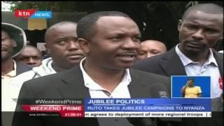 Jubilee party takes campaigns to Raila's home tuff in Migori