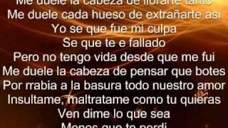 """Me duele la cabeza letra - Hector Acosta """"El Torito"""""""
