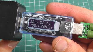 хороший USB тестер зарядок и power bank. Charger doctor Keweisi KWS-v20 обзор, сравнения