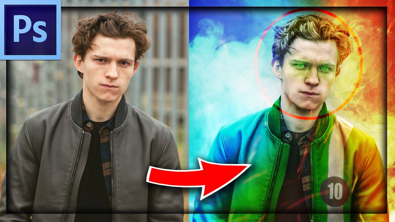 Turning Tom Holland into Ben 10 | Photoshop