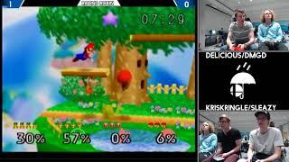 Delicious/DMGD vs KrisKringle/Sleazy (Smash 64 doubles RainCity 2)