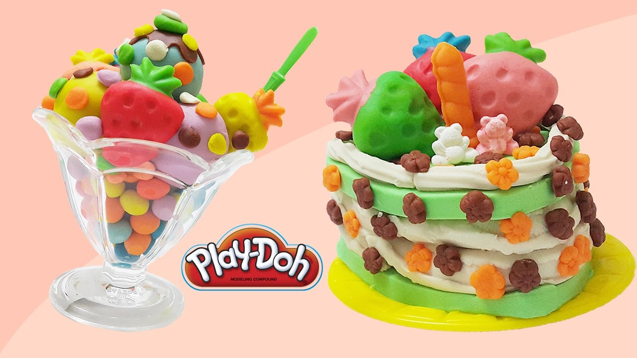 Youtube Play Doh Ice Cream And Cake