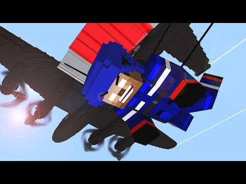 Monster School : Parachute Jumping ! - Craftronix Minecraft Animation