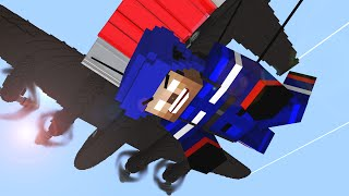 Monster School  Parachute Jumping  - Craftronix Minecraft Animation