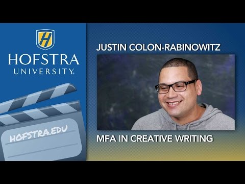 Inside the MFA in Creative Writing Program at Hofstra University from YouTube · High Definition · Duration:  3 minutes 56 seconds  · 647 views · uploaded on 15.06.2012 · uploaded by Hofstra University