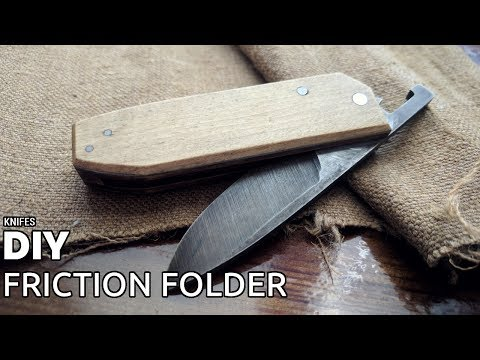 DIY friction folder knife