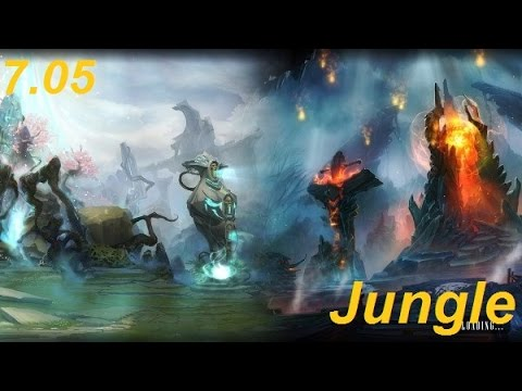 How to Jungle on the Radiant vs the Dire Sides of the Map in 705