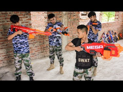 Nerf War: Army & Special Warriors Nerf Guns Fortnite Group Rescue Lady Nerf movie