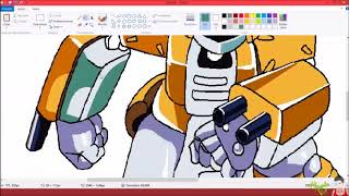 drawing Medabot-metabee in paint //Mangaka br