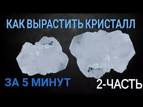 Как вырастить кристалл за 5 минут? Кристалл уже получился! Выращиваем кристаллы из лимоной кислоты!