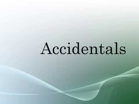 Accidentals- sharp, flat and natural