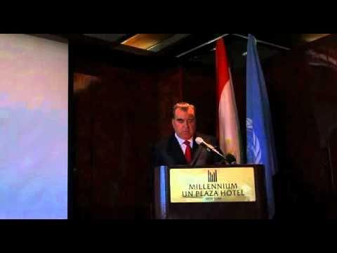 President of Tajikistan Emomali Rakhmon in UN accuses Uzbekistan in economic blockade