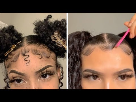 new-natural-hairstyles-&-slayed-edges-compilation