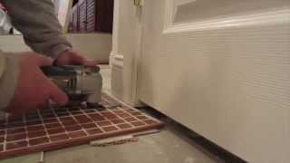 How to undercut a door casing for tile with an oscillating saw