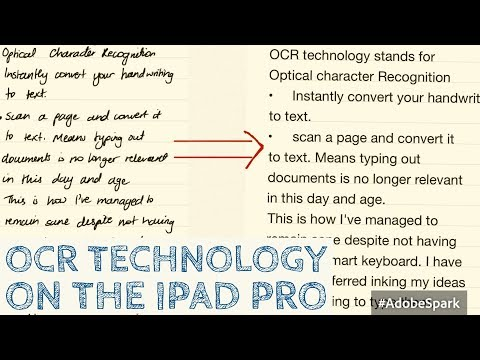 OCR technology on the iPad pro| Paperless Productivity