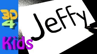 Turn word into cartoon very Easy ! JEFFY - SML - wordtoon #55