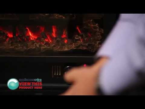 Expert demonstrates the Dimplex Manhattan electric heater with 3D flame effect - Appliances Online