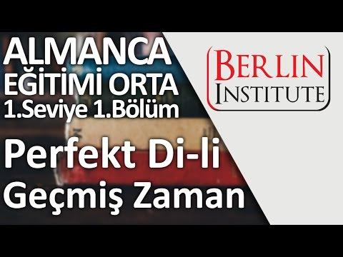 Almanca Eğitimi Orta 1-1. Bölüm - Perfekt Di-li Geçmiş Zaman (HD)