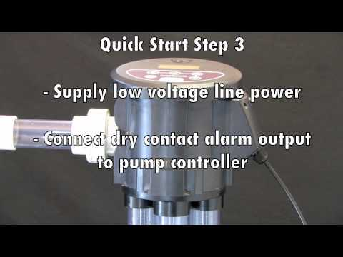 IVM6000 Quick Start Steps 2 & 3 - Installing the monitor, supplying power & connecting alarm