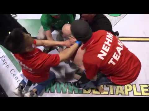 MMA Fighter Chokes Out Ref After Being Knocked Out!