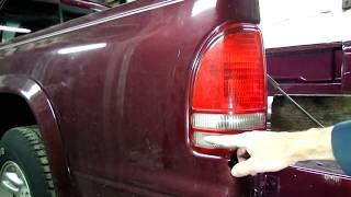 dodge dakota tail light replacement - youtube  youtube
