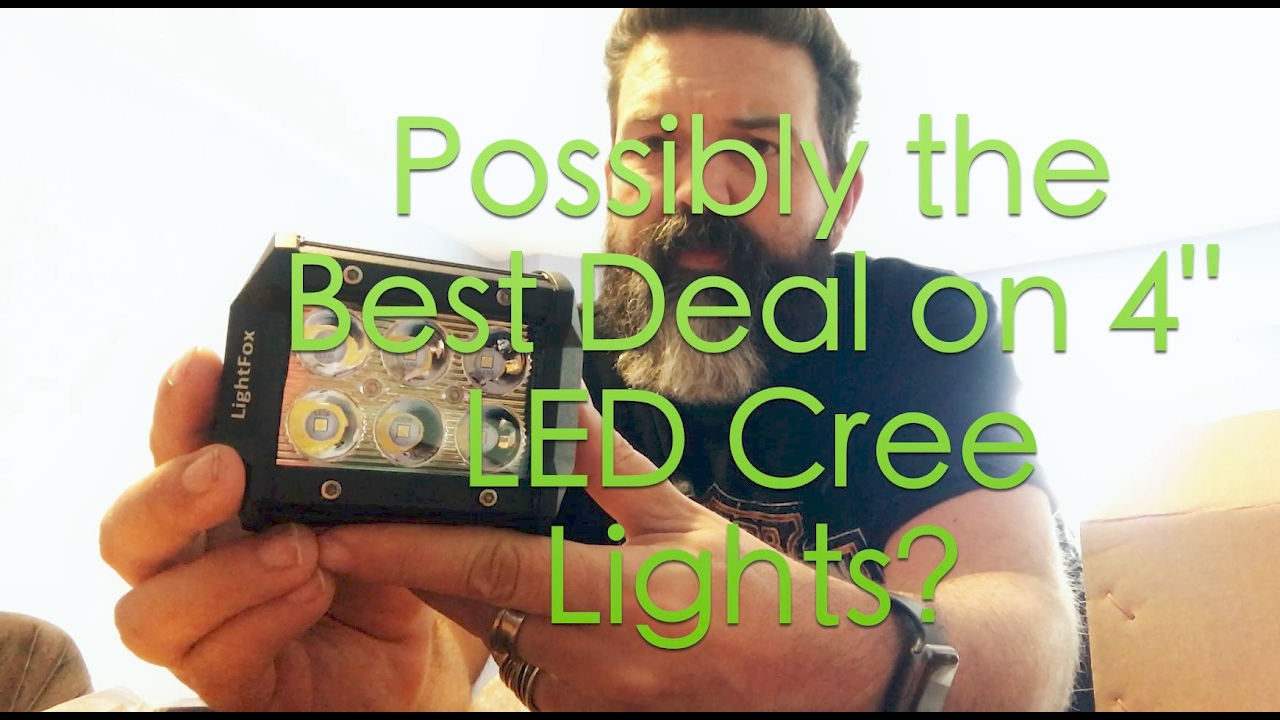 Possibly the Best Deal on LED Lights - Lightfox 18w 4  LED Cree light Unboxing  sc 1 st  YouTube & Possibly the Best Deal on LED Lights - Lightfox 18w 4