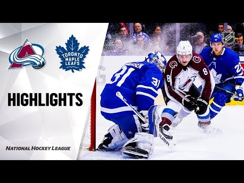 NHL Highlights | Avalanche @ Maple Leafs 12/4/19