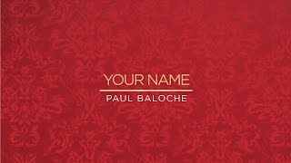 Paul Baloche - Your Name (Official Lyric Video)