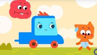 Мультфильм про машинки -  Грузовичок Пик - Голодный мишка+Лисёнок-задавака -для самых маленьких