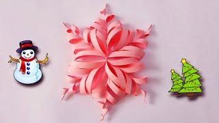 DIY Snowflakes | How to make 3D Paper Snowflakes DIY | gxpaul Craft