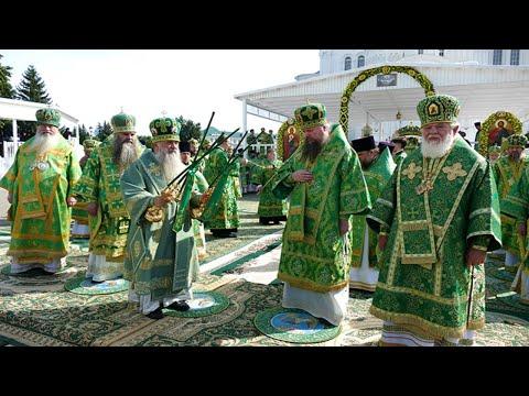 Божественная литургия . Свято -Троицкий Серафимо -Дивеевский монастырь, г. Дивеево.