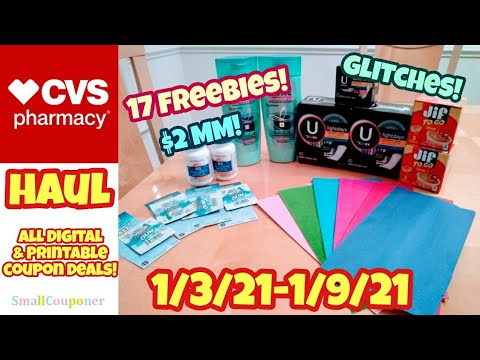 CVS Haul 1/3/21-1/9/21! Freebies, Glitches, and Moneymaker! All Digital and Printable Coupon Deals!