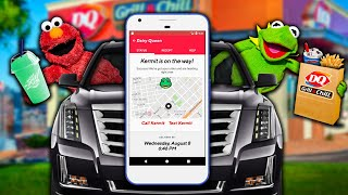 Kermit the Frog and Elmo's Food Delivery App! (Very fast)
