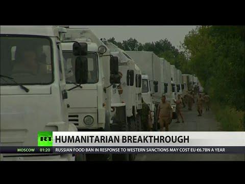 Russian convoy crosses Ukrainian border