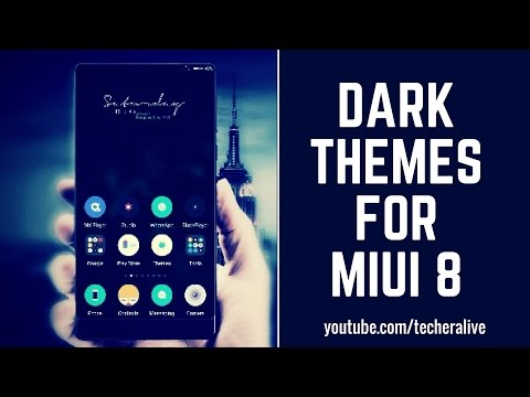 Top 10 Best Ever Dark Themes FOR MIUI 8