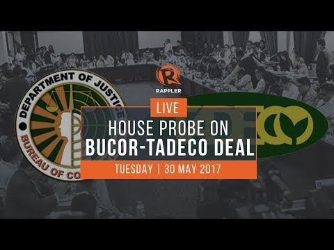 LIVE: House probe on BuCor-Tadeco deal, May 30