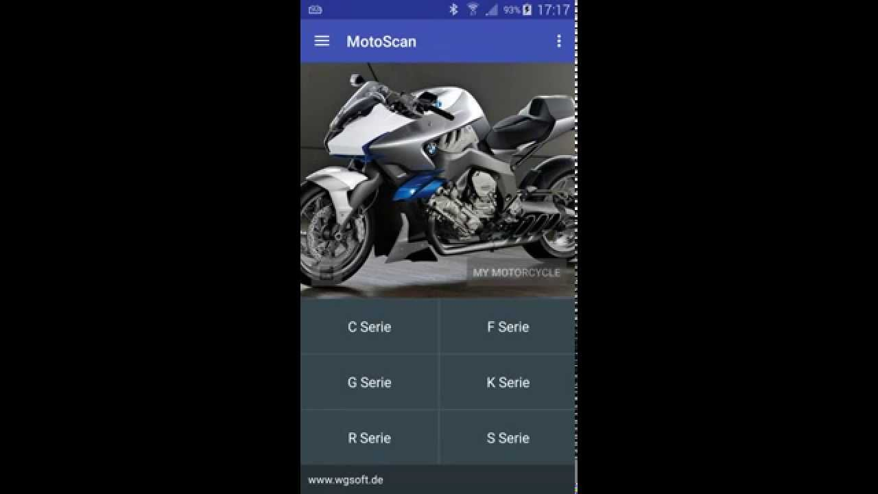 motoscan app f r bmw motorrad obd diagnose mit android und elm327 youtube. Black Bedroom Furniture Sets. Home Design Ideas