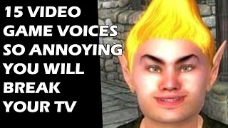 15 Video Game Voices So ANNOYING You Will Break Your TV