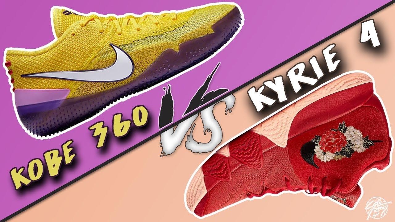 aae238998d7 Nike Flyknit Kobe AD NXT 360 vs Kyrie 4! - YouTube