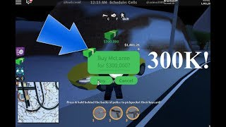 BUYING QUESTO MCLAREN 300K! (ROBLOX JAILBREAK)
